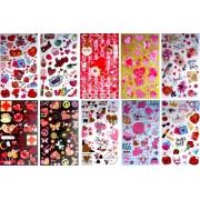 "Комплект наклеек ""Любовь, сердца, романтика"" - NN-MIX-01 (микс из 25 шт.)"