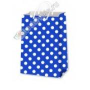 """Пакет ламінований (16,5х26х7 см) - ТОВ """"ТБВ """"Едельвейс"""" П5-синій горох"""