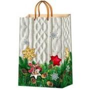 Пакет ламинированный новогодний (24х37,5х10 см) - Эдельвейс  П1-156