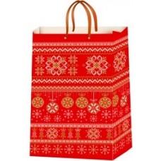 Пакет ламинированный новогодний (24х37,5х10 см) - Эдельвейс  П1-106