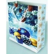 Пакет ламинированный новогодний (24х37,5х10 см) - Эдельвейс  П1-170