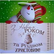 Пакет ламинированный новогодний (24х24х10 см) - Эдельвейс П2-069