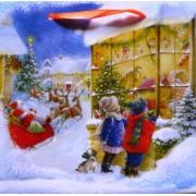 Пакет новогодний ламинированный (16х16х6 см) - Эдельвейс  П3-050