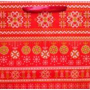 Пакет ламинированный новогодний (24х24х10 см) - Эдельвейс П2-074