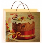 Пакет пасхальный (крафт, 25х22х15 см) - Открытка.ЮА. ПКР-0033/476