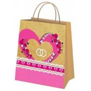 Пакет свадебный крафт (18х22,5х10 см) - M-00303