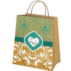 Пакет свадебный крафт (18х22,5х10 см) - M-00304
