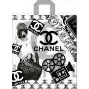"""Пакет подарочный полиэтиленовый с петлевой ручкой усиленный """"Шанель"""", 375х425мм. ПП-1-62"""