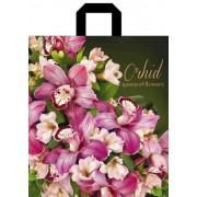 """Пакет подарочный полиэтиленовый с петлевой ручкой усиленный """"Орхидея"""", 375х425мм. ПП-1-66"""