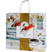 Пакет подарунковий (білий крафт) - Радіка РК-В4-16 (30х27,5х12 см)