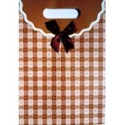 Пакет картонный с прорезной ручкой на липучке (26,8х19хх9 см) - Мандарин 1002-24