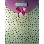 Пакет картонный с прорезной ручкой на липучке (31,8х25хх12,8 см) - Мандарин 1003-13