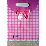 Пакет картонный с прорезной ручкой на липучке (26,8х19хх9 см) - Мандарин ASM13-073-M