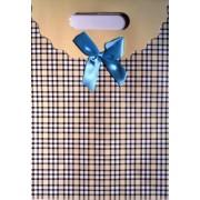 Пакет картонный с прорезной ручкой на липучке (26,8х19хх9 см) - Мандарин ASM13-074-M