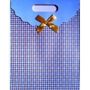 Пакет картонный с прорезной ручкой на липучке (31,8х25хх12,8 см) - Мандарин ASM13-075-L