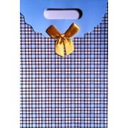 Пакет картонный с прорезной ручкой на липучке (26,8х19хх9 см) - Мандарин ASM13-075-M