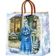 Пакет новогодний ламинированный (16х16х6 см) - Эдельвейс  П3-003