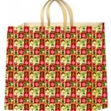 Пакет новогодний ламинированный (16х16х6 см) - Эдельвейс  П3-005