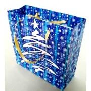 Пакет новогодний ламинированный (16х16х6 см) - Эдельвейс  П3-047