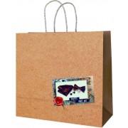 Пакет подарунковий (білий крафт) - Радіка РК-В4-25 (30х27,5х12 см)