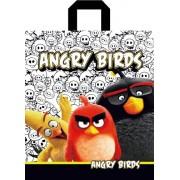 """Пакет подарочный полиэтиленовый с петлевой ручкой усиленный """"Angry birds"""", 300х340мм. ПП-1-09"""