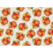 Упаковочная бумага (980*670) BLU-008 Цветы жёлтые (5 шт.)
