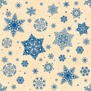 """Упаковочная бумага (КРАФТ) новогодняя (100х70 см) Эд-УБ-212 """"Синие снежинки"""" 5 шт."""