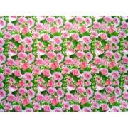"Упаковочная бумага (100х70 см) Эд-УБ-139 ""Розовые розы"" 5 шт."