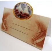 Банкетка (рассадочная карточка) свадебная ЭД-Б-03