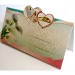 Банкетка (рассадочная карточка) свадебная ЭД-Б-09