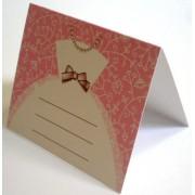 Банкетка (рассадочная карточка) свадебная ПК-01