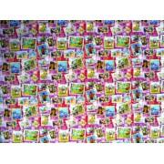 """Упаковочная бумага (100х70 см) Эд-УБ-178 """"Марки, мультфильмы"""" 5 шт."""