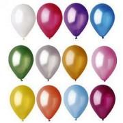 """Воздушный шар металлик """"Лампочка"""" 10""""/25см. (перламутр, ассорти 10 шт.) №1"""