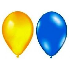 """Воздушный шар металлик """"Лампочка""""10""""/25см. (перламутр, синие, желтые 10 шт.) №4"""