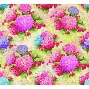 "Упаковочная бумага (100х70 см) Эд-УБ-216 ""Гортензия розовая"" 5 шт."
