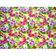 "Упаковочная бумага (100х70 см) Эд-УБ-166 ""Орхидеи"" 5 шт."
