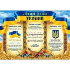 "Плакат А2 ""Державні Символи України"" ФП-№154"