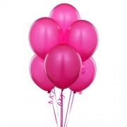 """Воздушный шар металлик 12""""/30 см (10 шт.) №7-розовый"""