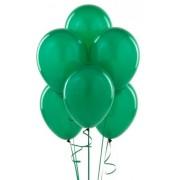 "Воздушный шар металлик 12""/30 см (10 шт.) №7-зелёный"