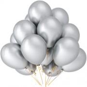 """Воздушный шар металлик 16""""/40 см (10 шт.) №5-белый"""