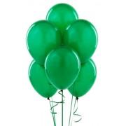 "Воздушный шар металлик 16""/40 см (10 шт.) №5-зелёный"