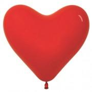 """Воздушный шар пастель 10""""/25 см (в форме сердца,10 шт.) №20-красный"""