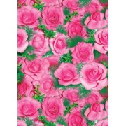 "Упаковочная бумага (100х70 см) Эд-УБ-067 ""Розовые розы №2"" 5 шт."