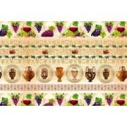 """Упаковочная бумага (100х70 см) Эд-УБ-070 """"Виноград, вазы"""" 5 шт."""