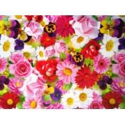 """Упаковочная бумага (100х70 см) Эд-УБ-116 """"Розы, герберы, ромашки"""" 5 шт."""