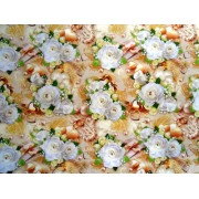 "Упаковочная бумага (100х70 см) Эд-УБ-141 ""Свадебная, белые розы"" 5 шт."