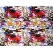 """Упаковочная бумага (100х70 см) Эд-УБ-146 """"Деньги, авто"""" 5 шт."""