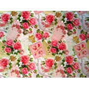 "Упаковочная бумага (100х70 см) Эд-УБ-164 ""Свадебная, розы, бусы"" 5 шт."