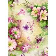 """Упаковочная бумага (100х70 см) Эд-УБ-224 """"Цветы"""" 5 шт."""