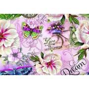 """Упаковочная бумага (100х70 см) Эд-УБ-225 """"Цветы, бабочки"""" 5 шт."""